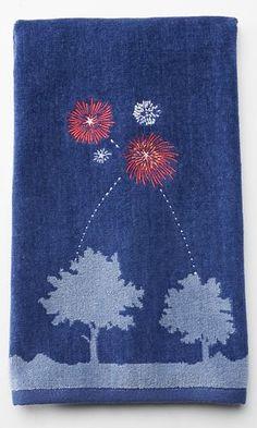 Americana ''Celebrate!'' Fireworks Hand Towel