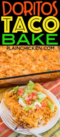 Doritos Taco Bake - Crescent rolls topped with taco meat, tomato sauce, sour cream, cheese, and Doritos! Kids gobble this up! Ready in 30 minutes. Quick Supper Ideas, Dinner Recipes Easy Quick, Quick Easy Meals, Dinner Ideas, Dorito Taco Bake, Doritos Taco, Crescent Roll Taco Bake, Crescent Rolls, Mexican Food Recipes