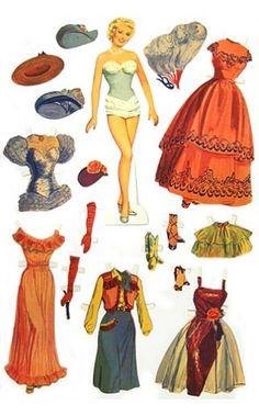Betty Grable Paper Doll Set   Art & Creative Play   TinToyArcade  