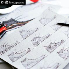 Another #repost from Industrial Design student @flyin_apsaras.  Keep grinding.  #Pensole #footweardesign #asudesignschool #sketch #conceptkicks #footwear #doodle #sneakerart #design #industrialdesign #productdesign
