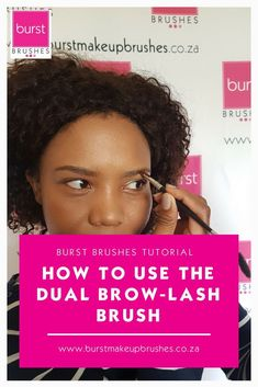 How to use the dual brow lash! A step by step tutorial on how to use the Brow Lash brush by Burst Ma. Face Threading, Threading Eyebrows, Plucking Eyebrows, Beauty Makeup Tips, Makeup Tools, Beauty Hacks, Best Eyebrow Powder, Best Eyebrow Products, Beauty Products