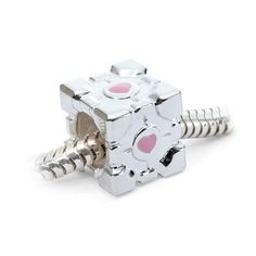 ThinkGeek :: Portal Companion Cube Charm Bead $34.99 for charm only  - compatible with Pandora, Chamilia, Biagi, Troll and more!