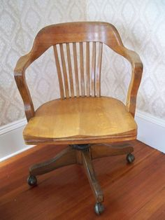 vintage solid oak american bankers chair c 1940s strikingly comfortable antique deco wooden chair swivel