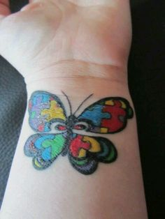 Aspergers tattoo Butterflies are everywhere in my life..showing up. :)