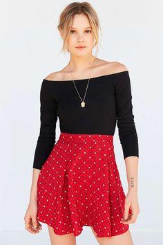 Kimchi Blue Simone Floral Skater Skirt - Urban Outfitters
