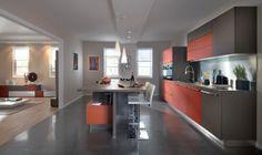 #SchmidtBarnet #London #Wood #modern #Kitchen #design with #island