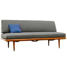 Daybed Sofa by Peter Hvidt & O. M. Nielsen, Teak, 1960s Danish Modern, France & Son | 1stdibs.com
