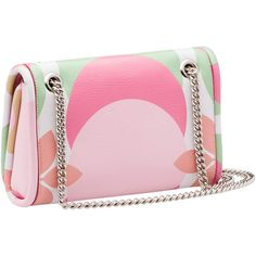 Miu Miu SHOULDER BAG (£1,145) ❤ liked on Polyvore featuring bags, handbags, shoulder bags, flower print handbags, flower print purse, pink purse, shoulder bag purse and floral handbags