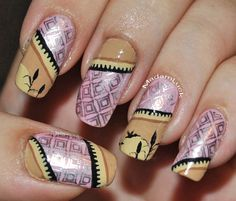stamp nail art by MadamLuck.deviantart.com on @deviantART