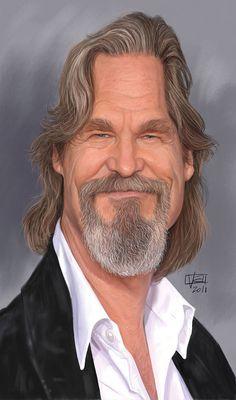 Caricatura de Jeff Bridgesr - www.remix-numerisation.fr - Rendez vos souvenirs durables ! - Sauvegarde - Transfert - Copie - Restauration de bande magnétique Audio