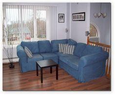 cindy crawford home beachside blue denim sofa in 2019 3322 denim rh pinterest com