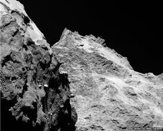 Comet. Cannot get enough of this comet. Is it teeming with microbial life? Microbial life with consciousness en masse?
