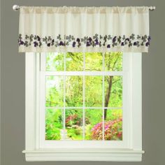 "Lush Decor Flower Drop Valance, Purple by Lush Decor. $25.74. Includes: 1 valance. Valance: 84""W x 18""D. Fabric content: 100-percent polyester. Care instructions: dry clean. Available in red, blue and ivory/purple. This valance is a lovely combination of ivory faux silk with delicate laser cut and embroidered purple and soft grey flowers. The detailing gives the feeling of the flowers coming right off the surface of the fabric creating a unique window covering that stands alone..."