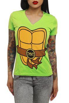 602c6f532 Teenage Mutant Ninja Turtles Costume V-Neck Girls T-Shirt - 174565