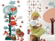 Océchou, papeles pintados y complementos para la habitación del bebé