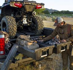 DECKED truck bed tool boxes and cargo van storage systems revolutionize organization with a heavy-duty in-vehicle storage system featuring slide out toolboxes. Truck Bed Storage, Gun Storage, Storage Ideas, Dodge Ram 2500, Decked Truck Bed, Bed Deck, Truck Mods, Truck Camper, Chevy Silverado 2500