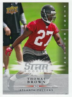 Thomas Brown RC # 195 - 2008 Upper Deck First Edition Football NFL Rookie
