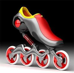 Mercury Skates are designed for smoother ride and lesser stress on legs....whoa, those are trippy...but look kinda fun