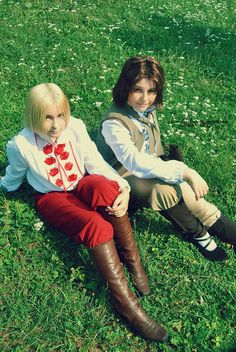 Edo_Cat as Poland and me as Lithuania (Axis Powers Hetalia)~ Photo by Real Hollow Place: Moscow (Kolomenskoye)