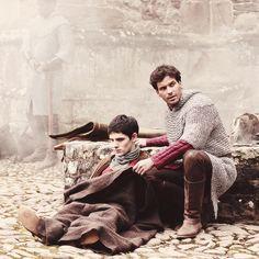Merlin and Lancelot :) And a little Elyan in the distance.