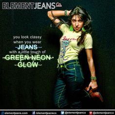 #elementjeans #elementjeansco #womens #women #stretch #denim #jeans with #neon #colored #thread #neonjeans #neongreen #trend #latest #fashion #trendy