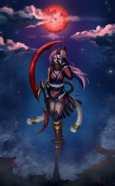 Blood Moon Diana by Kriniere