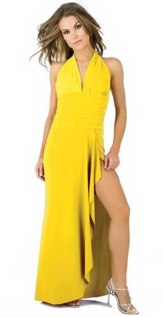 Sophisticated Long Evening Club Cocktail Halter Dress with Draped Hem from Hot Fash Dresses - EMPRESS Yellow Glam Attack,http://www.amazon.com/dp/B003XS728Y/ref=cm_sw_r_pi_dp_vGfdsb0Z4SY5BMSZ