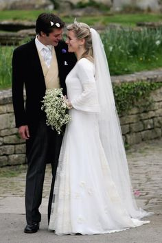 Laura Parker Bowles and Harry Lopes wedding at St Cyriac's Church, Lacock on May 6, 2006 in Wiltshire, England.