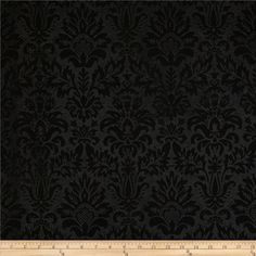 Embossed Felt 54 inch Heritage Damask Black Fabric By The Yard Floral Print Fabric, Floral Prints, Yennefer Cosplay, Yennefer Of Vengerberg, Curtain Material, Baroque Fashion, Recycle Plastic Bottles, Banner Design, Black Fabric