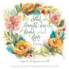 Art prints of original designs by Pam Coxwell are available in standard-ready-to-frame sizes. Bible Verse Painting, Scripture Study, Bible Art, Chloe Gifts, Plunder Design, Christian Wallpaper, Favorite Bible Verses, Favorite Quotes, Heart Art
