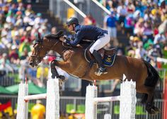 Rio 2016 Silver medalists Peder Fredricson (SWE) and All In. ©FEI/Arnd…