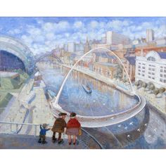 We're Higher than the Seagulls Grandad! signed limited edition print by Edward Tibbs