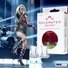 Not just for grass Solemates are being seen on celebs from coast to coast- Carrie Underwood was wearing Solemates at the ACMs on Sunday night in Las Vegas. Rihanna was spotted wearing them in NYC to deal with the subway grates! Solemates High Heelers let you walk in your heels with ease! Youll discover you have more stability and wont need to worry about heel damage incurred by walking on cobblestones wooden decks subway grates or bricks.  Shop Here>> http://ift.tt/1S3GDOW  #mws…