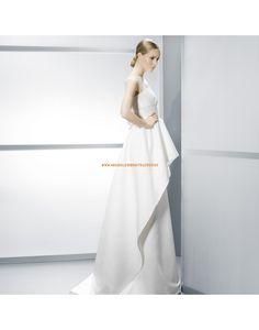 Moderne kurze Ärmel gestupfte Hochzeitskleider aus Satin- Jesús Peiró