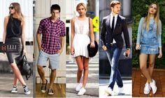 Looks com tênis Converse All Star www.lelicorrales.com.br