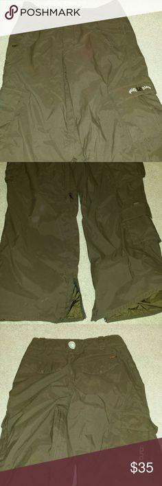 Burton size small brown snowboard pants Burtons brand. Size small. Brown snow boarding pants. . Smoke free home Burton Pants