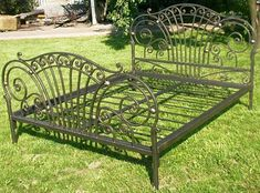 Wrought Iron Beds, Wrought Iron Decor, Welded Furniture, Iron Furniture, Iron Canopy Bed, Gates And Railings, Steel Bed Frame, Iron Chandeliers, Corrugated Metal