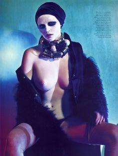 Lara Stone by Steven Klein for Vogue Paris October 2009