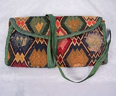 Gentleman's flame stitch wallet - c. 1760, sold at auction $700, Fall 2006.