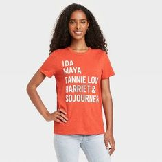 Black History Month Women's Names Short Sleeve Graphic T-Shirt - Red Heather M : Target