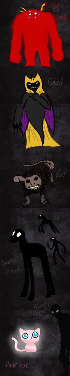 Monsters from my dreams by Wolf-Goddess13.deviantart.com on @deviantART