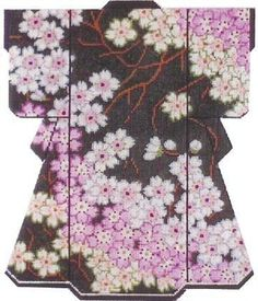 LEE Cherry Blossoms on Dk. Green LG. Kimono handpainted HP Needlepoint Canvas HP