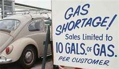 Remember the gas shortage in the 70's..can you imagine now 10 gallons would barely get you around the block