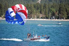 Parasailing on Lake Tahoe - National Scenic Byways: Digital Library