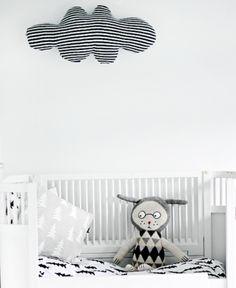 Biało-czarne pokoje i dodatki dla dzieci