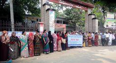 বোয়ালখালীতে প্রাথমিক শিক্ষকদের মানববন্ধন - http://paathok.news/23759