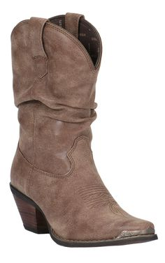 Crush by Durango Womens Cinnamon Narrow Square Toe Slouch Western Boot   Cavenders