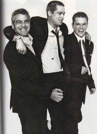 ★ power. George, Brad, and Matt. #handsome #celebrity #HOT