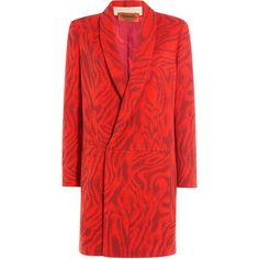 Missoni Zebra Print Wool Coat (€1.517) ❤ liked on Polyvore featuring outerwear, coats, none, red, crop top turtleneck, lapel coat, wool turtleneck, long sleeve turtleneck and woolen coat
