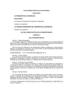 ley-codigo-eticafuncionpublica by  Esther Segovia  via Slideshare